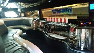 Interior of our Hummer