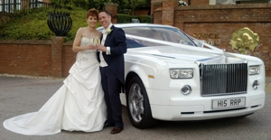 Phantom at Wedding Venue 1st Direct Limousines