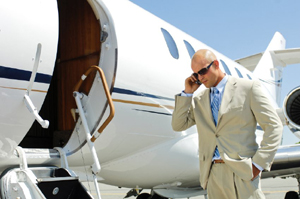 Executive limo services to private jet