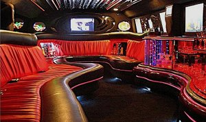 White Hummer Hire interior 2 features