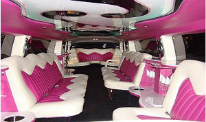 White Hummer H2 interior features